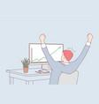 development success achievement in business vector image