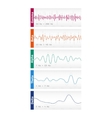 Different brain waves vector image vector image