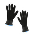 diving gloves vector image vector image