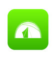dome tent icon digital green vector image vector image
