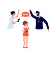 domestic violence family bullying on child vector image vector image