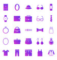 dressing gradient icons on white background vector image
