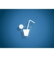 Drink Glossy Icon vector image vector image