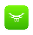 drone video camera icon digital green vector image