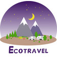 ecotravel4 vector image vector image