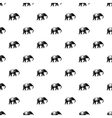 Elephant pattern simple style vector image vector image