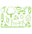 environment doodles icons vector image vector image