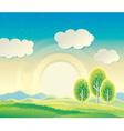 Farming landscape vector image vector image