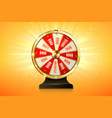 fortune wheel spin casino lucky roulette game vector image