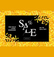 gold sale background in frame golden glitter vector image