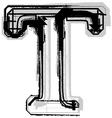 Grunge font letter T vector image vector image