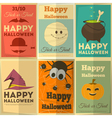 halloween posters set vector image