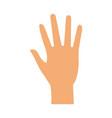hand person cartoon vector image vector image