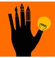Hand Tool Creative vector image vector image