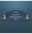 Happy Memorial Day Badge with Ribbon vector image vector image