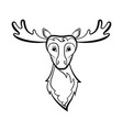 head of a elk vector image