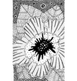 hibiscus - flower black and white vector image vector image