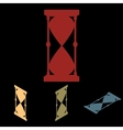 Hourglass icon set vector image vector image