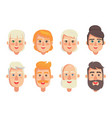 human constructor head different hairstyles vector image vector image
