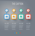 icon weather set of storm rain rainy and other vector image vector image