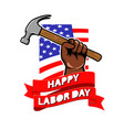 labor day greeting badge vector image