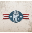Labor Day Sale realistic festive Tag vector image