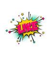 like pop art comic book text speech bubble vector image