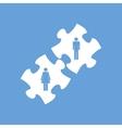 Love puzzle white icon vector image vector image
