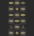 luxury logos templates set flourishes vector image vector image