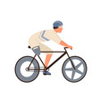 male disabled athlete with amputated leg ride vector image vector image