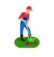 male farmer planting sprout color vector image vector image