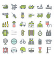 military and weapons filled outline icon vector image vector image