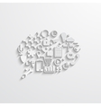 modern bubble speech Business background vector image