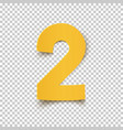 number two yellow abstract design vector image vector image