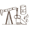 Oil - petrol doodles vector image