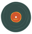 old vinyl plate with label music record on tape vector image vector image