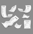 paper receipts receipt print amount bill budget vector image vector image