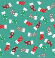 patterns christmas socks vector image