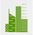 Real estate infographics template in retro style vector image vector image