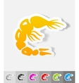 realistic design element shrimp vector image