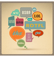 retro style speech bubbles vector image vector image