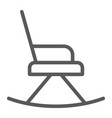 rocking chair line icon furniture and home vector image vector image