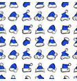 santa claus hats christmas seamless pattern for vector image vector image