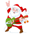 Santa Claus Plays Guitar vector image vector image