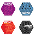 Set Of Four Hexagon Banners vector image