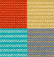 Set of Garter Stitch seamless patterns vector image