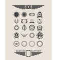 set of industrial emblems and elements vector image
