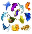 set of tropical fish on white background vector image