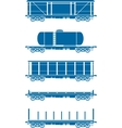 set railway freight cars vector image vector image