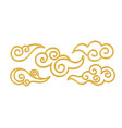 set realistic golden shiny chinese traditional vector image